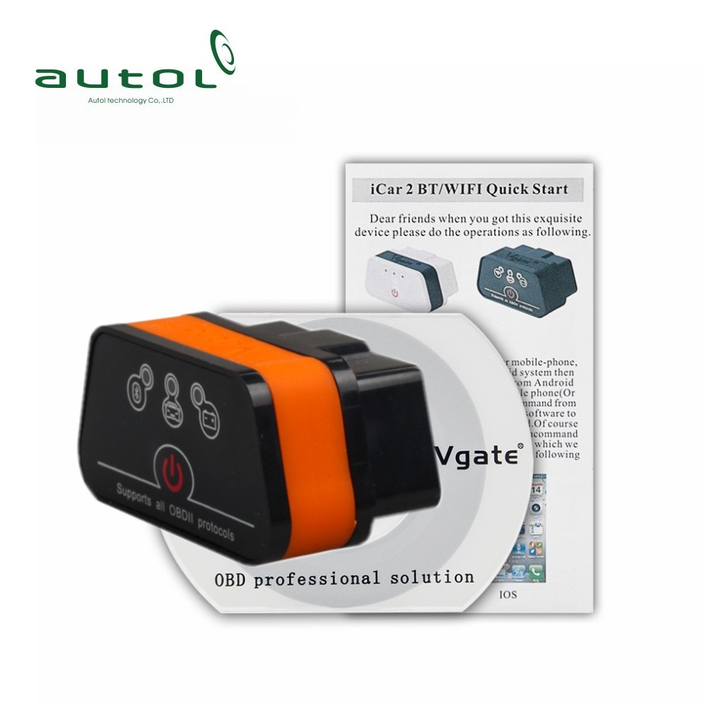 Vgate Icar2 elm327 bluetooth Vehicle Tools obd2 obdii bluetooth scan elm 327 Icar 2 BT Scan Tool with high quality