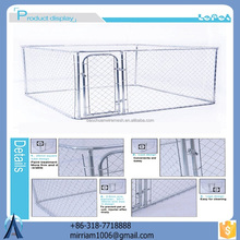 10x10x6 foot classic and customizable galvanized outdoor dog kennel/cheap dog fence/dog house factory