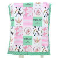 Polyester Minky Fabric Soft Breathable Patchwork Baby Blanket