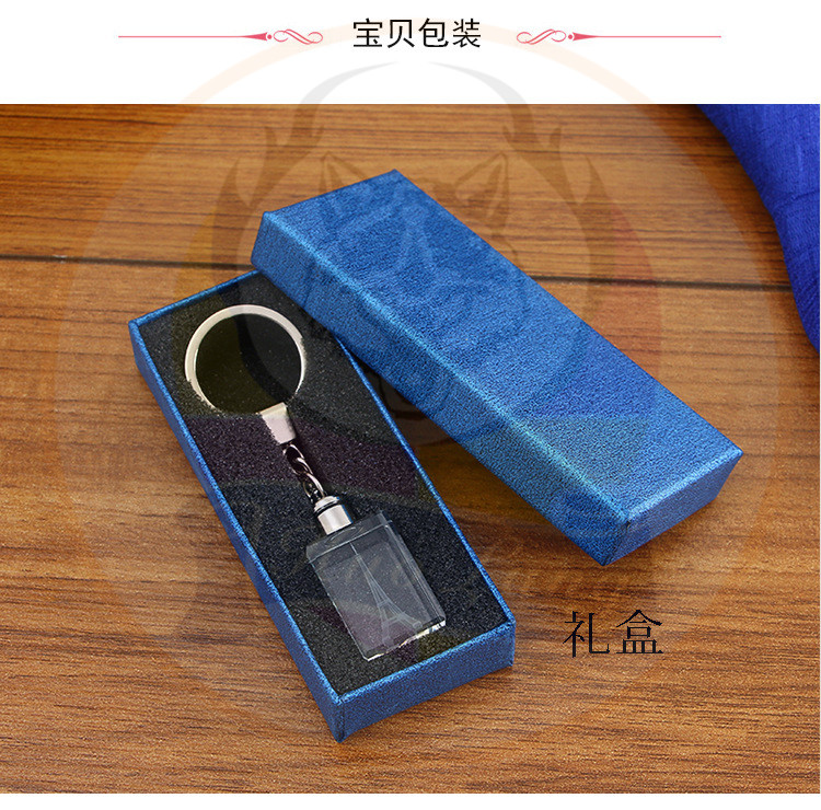 아크릴 투명 LED Keychain 2018 Promotion Gift LED Flashlight 키 Chain Manufacturer