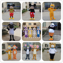 Party Event rental famous cartoon mascot costumes in stock