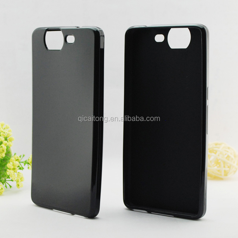 Matte inside clear outside cell phone tpu case for Wiko Highway