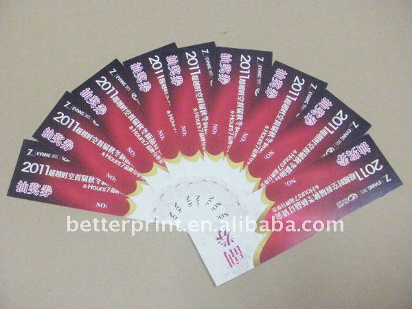 color discount vouchers with serial number printing service