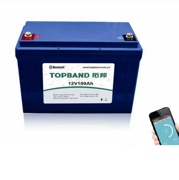 Professional recreational vehicles battery 12V 100Ah LiFePO4 battery with bluetooth monitor