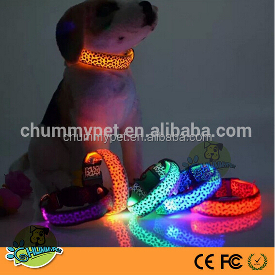 Amazon Hot Sale New Nylon LED Dog Night Safety Dog Collar And Leash