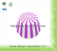 printed vertical stripe of greaseproof baking paper cake cup