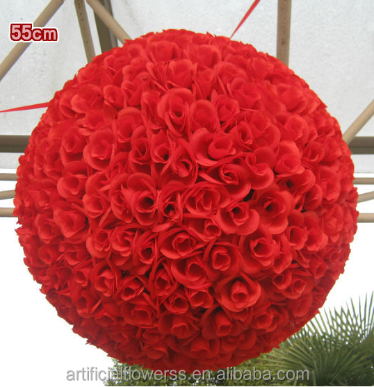 Rose Round Flower Ball Wedding Colored Decorative Balls