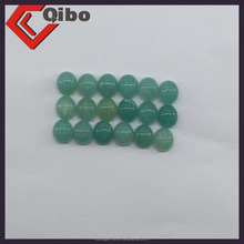Peruvian Amazonite 7mm round cut cabochon stone with a solid blue / green colour