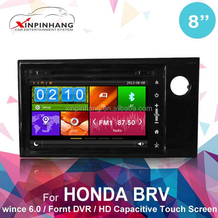 Capacitive touch screen car dvd player for Honda BRV car dvd with gps system