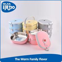 Household high quality stainless steel multi-layers insulated tiffin box