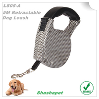 Dog ornaments wih 5M automatic retractable dog leash