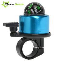 RockBros Bike Bicycle Compass Pulling Action Ring Aluminum Horn Sound Alarm Bell for 22mm Handlebar Diameter, 5Color