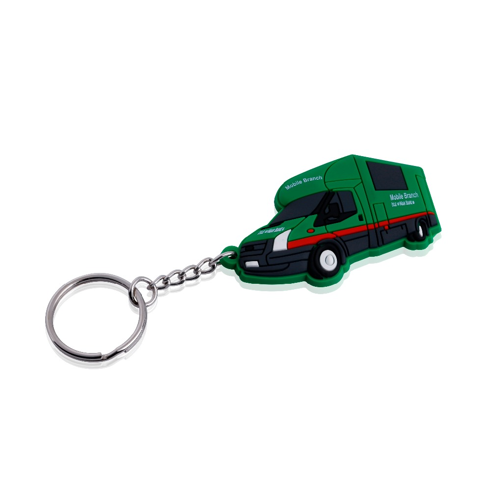 high quality custom rubber motorcycle keyring