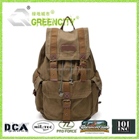 Vintage Washing Canvas Outdoor Military Mens Womens Rucksack Backpack