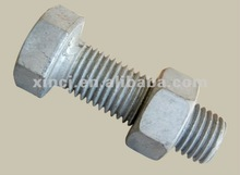 carbon steel all size length M45 130-400 DIN931 DIN601 ISO4014 hexagon bolts half thread