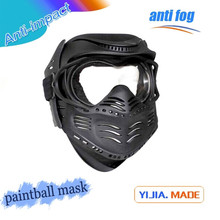 Military full face double lens paintball mask wargame black paintball use mask custom logo paintball equipment shield