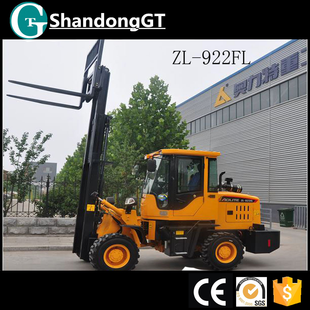 ZL-922FL hydraulic car lift mini hand tractor wheel motor farm tractor tractors forklift loader for sale