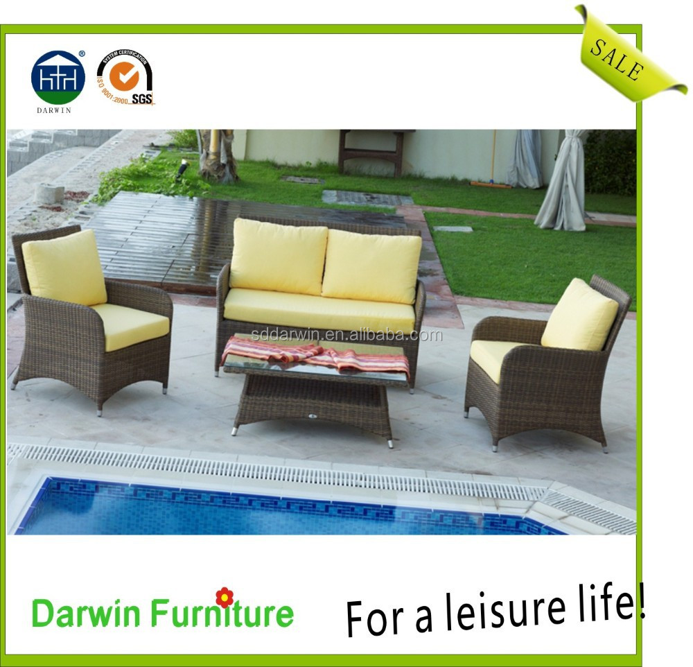 2015 poly rattan/wicker furniture outdoor sofa set