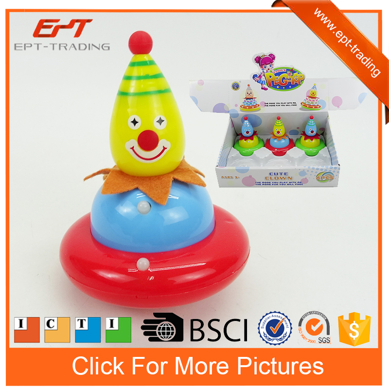 Hot selling spinning top peg-top doll toys with light