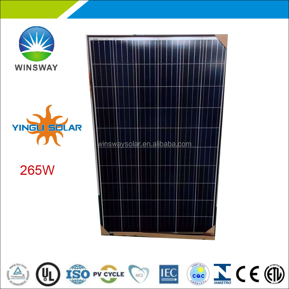 Yingli 265 watt black frame poly pv module in stock