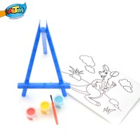 drawing art set craft art set pre printed streched canvas with acrylic paint pots