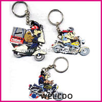 soft pvc custom motorcycle keychain
