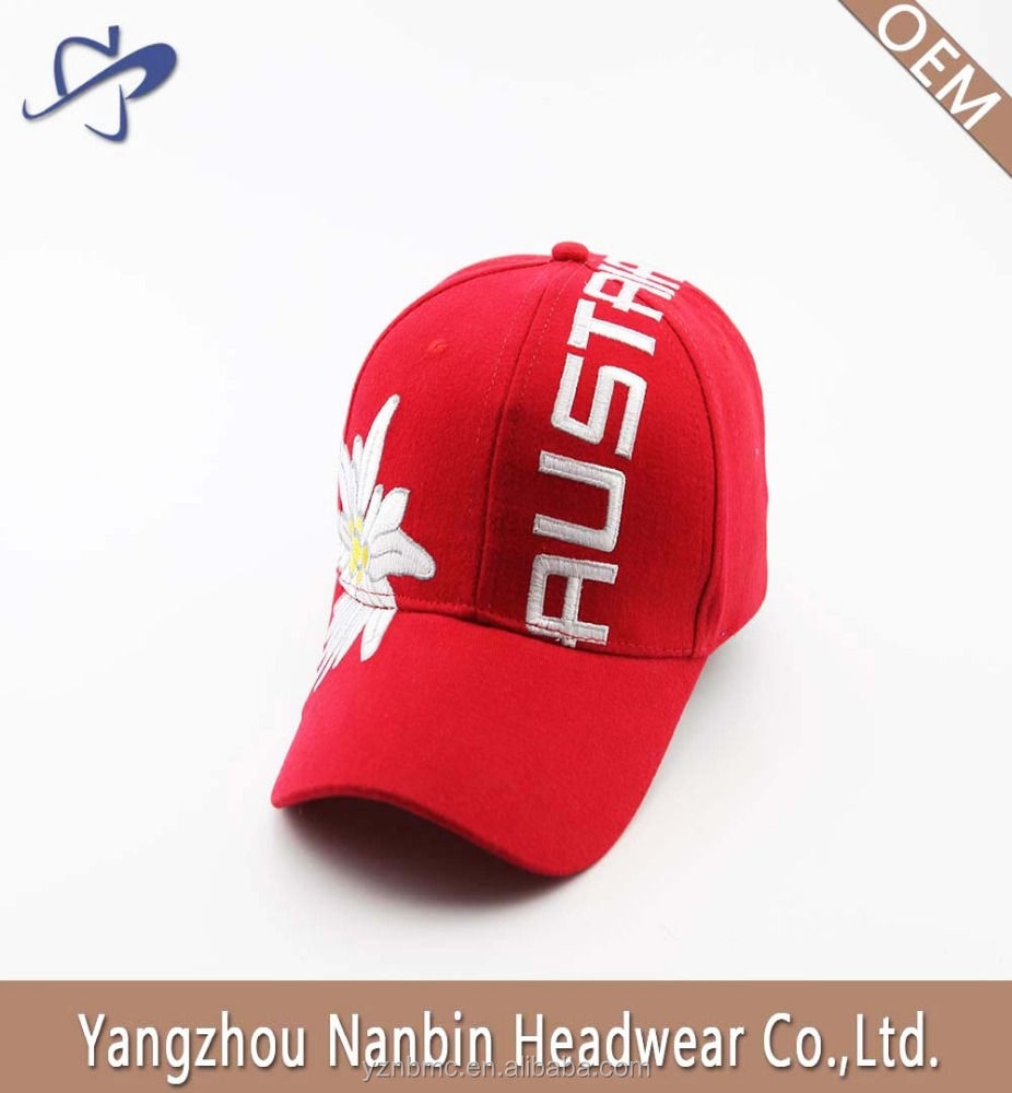 OEM promotional high quality fashion 6 panel brushed cotton baseball cap sport cap with embroidery and metal buckle