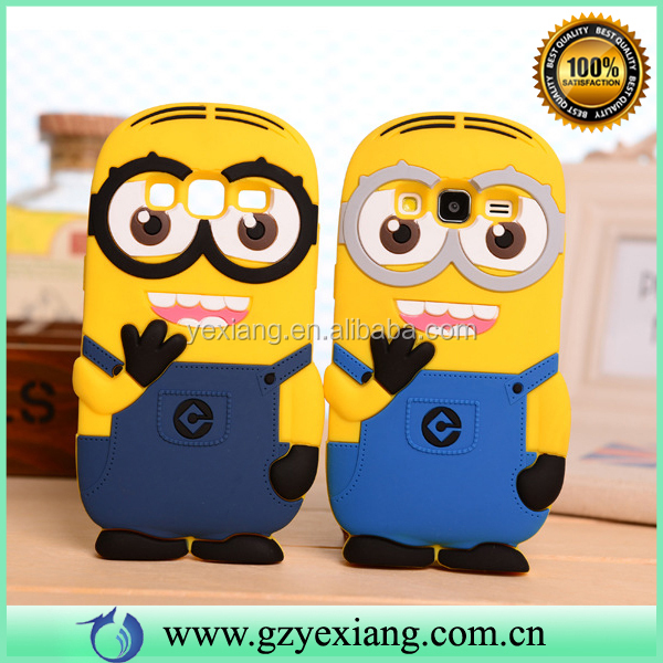 Cute Yellow Minion Silicon Case For Samsung Galaxy J5 J7 Cartoon Cover