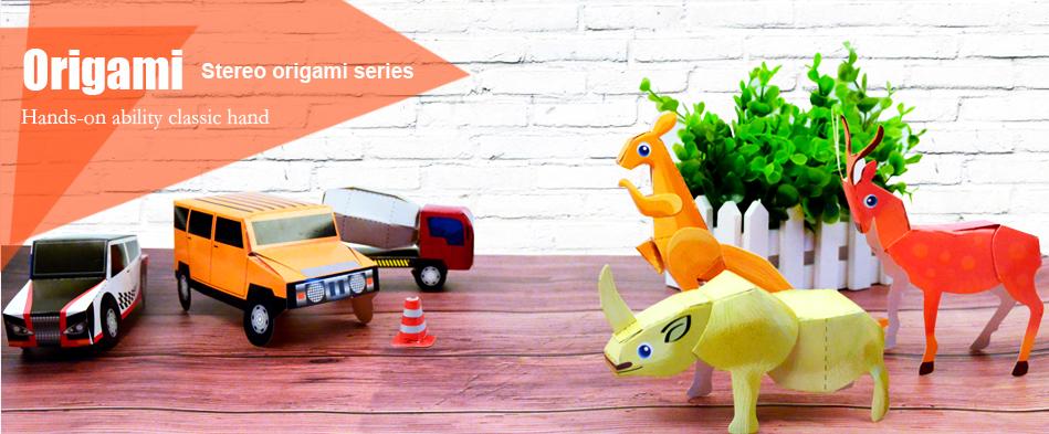 Parentalidade brinquedos artesanais DIY origami papel brinquedo para o miúdo