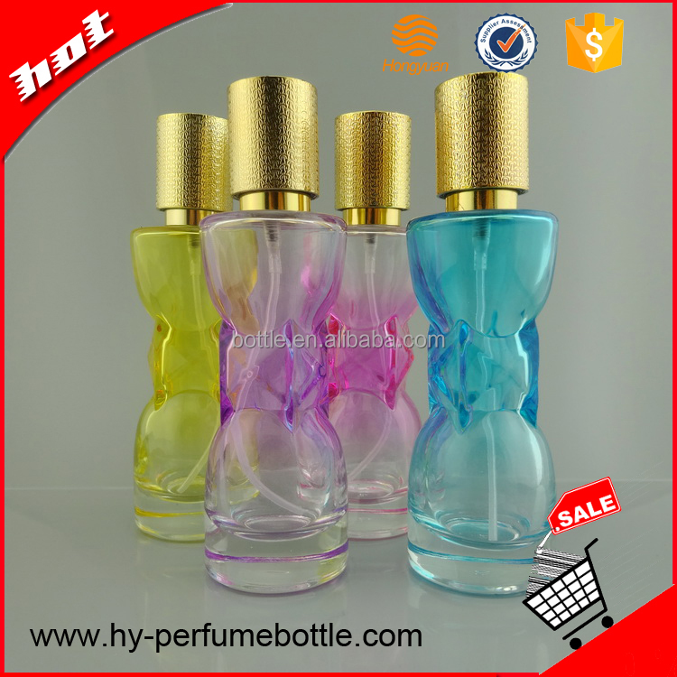 30 ml wholesale cheap empty refillable perfume glass bottle with pump spray