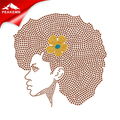 Hot Sale Glitter Afro girl Wholesale Iron on Transfers for Custom Women T Shirts