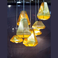 contemporary tom dixon cell pendant light gold color stainless steel decorative lighting for restaurant