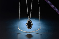 SN0035- Double chain necklace High quality Jewelry 925 Silver pendant necklace