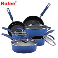 10 Pcs Preminum Quality Porcelain Enamel Nonstick Cookware Set As Seen On TV
