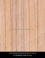 sliced cut laminated artificial recon teak wood veneer for wooden decoration