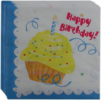 Disposable party supply paper napkins, decoupage tissue paper napkins for birthday