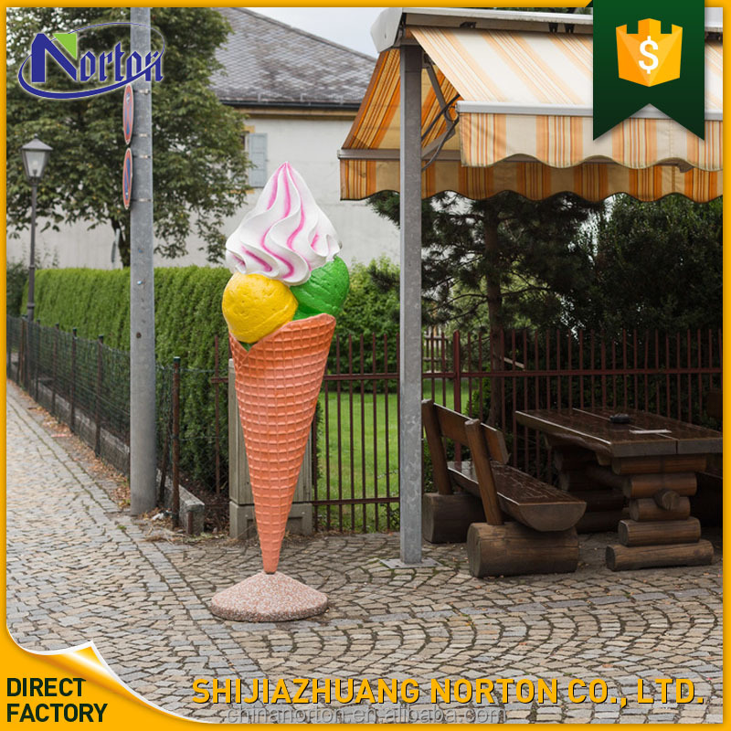 Chinese factory custom made handmade carved fiberglass ice cream sculpture NT-FS352A