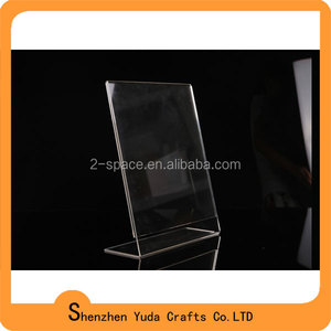 L shape A3 A4 A5 A6 size acrylic sign holder label holders acrylic name holder sign