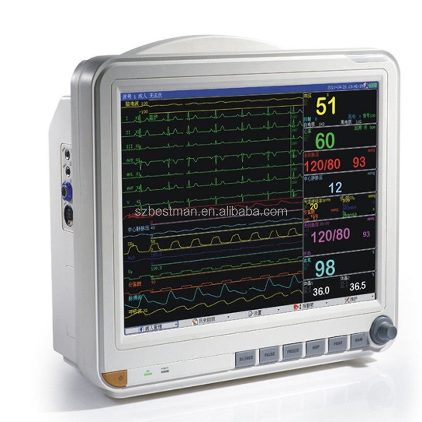 multi parameter patient monitoring devices vital sign ICU ambulance patient monitor with CE&ISO approved BPM-9600