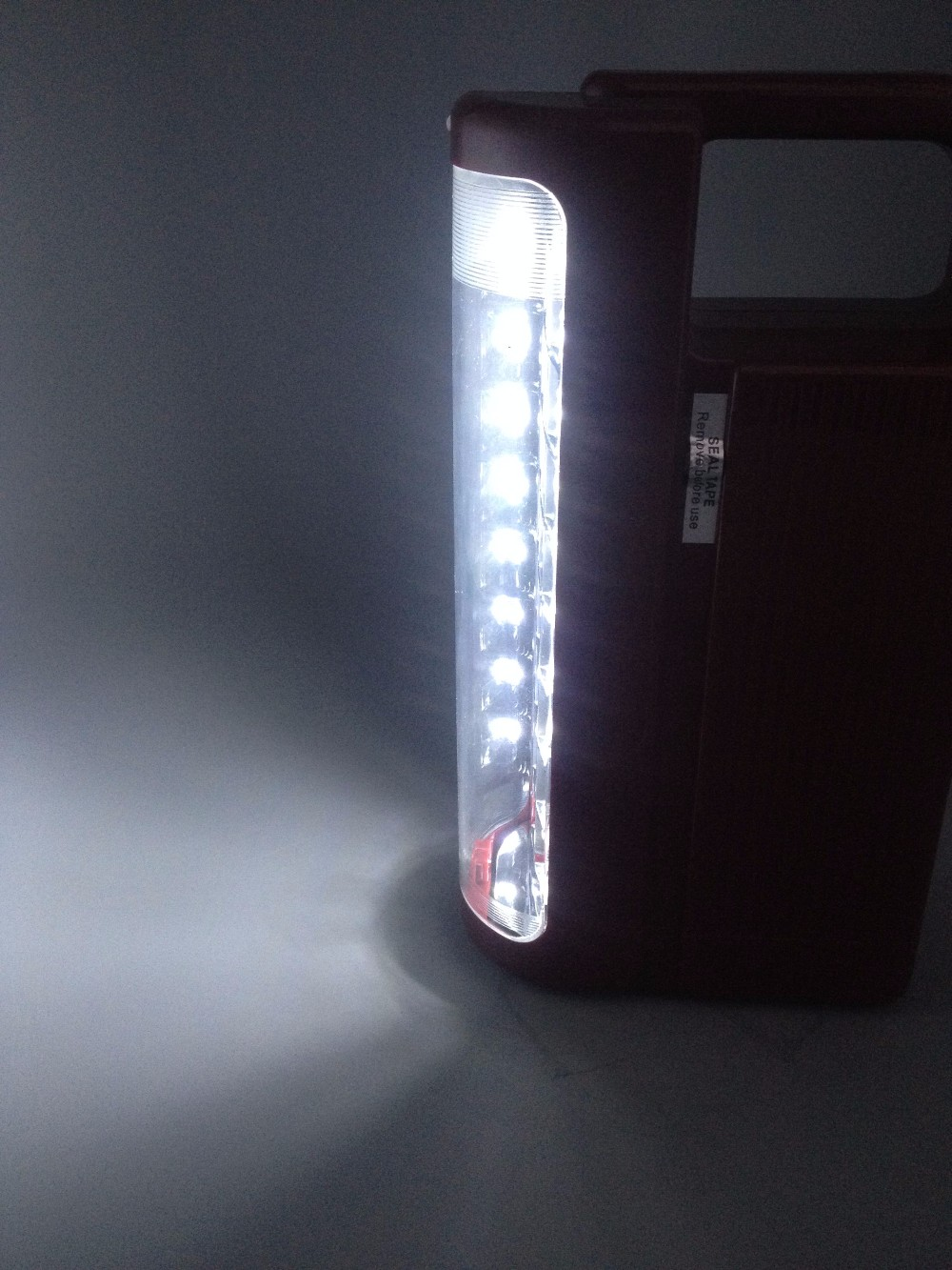 Hot sale dp led sanyo solar power rechargeable emergency light