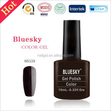China supplier Bluesky Soak Off UV LED Gel Nail Polish ,Dark Dahlia Purple 80559