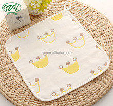 Factory Wholesale 100% Cotton Baby Towel Muslin Wash Cloth Face Cleaning Towel