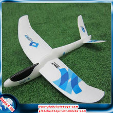 v- tail gw-t132 490mm hand launch aircraft epo foam plane glider toy diy rc airplane for kids