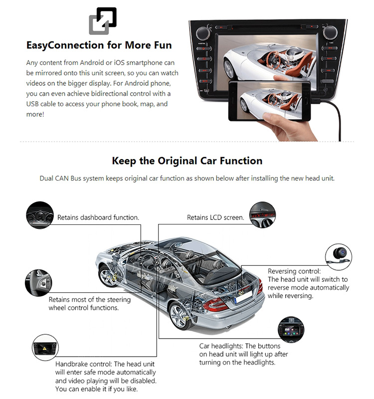 EONON GA8198 Android 7.1 for Mazda 6(2009-2012) 8 inch Multimedia Car DVD GPS Compatible with HDMI (Upgraded GA7198)