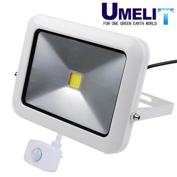 Slimline LED PIR Floodlight Black 20W