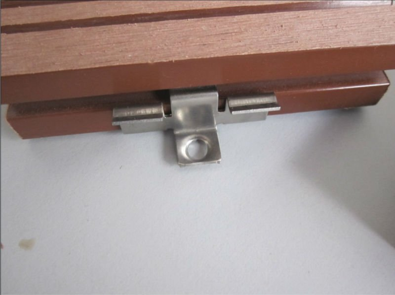 Durable wpc decking customized Metal clips/wpc mounting