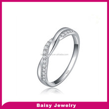 new styles fashion 925 sterling Silver couples Infinity symbol Ring with Shiny Zircon Crystal