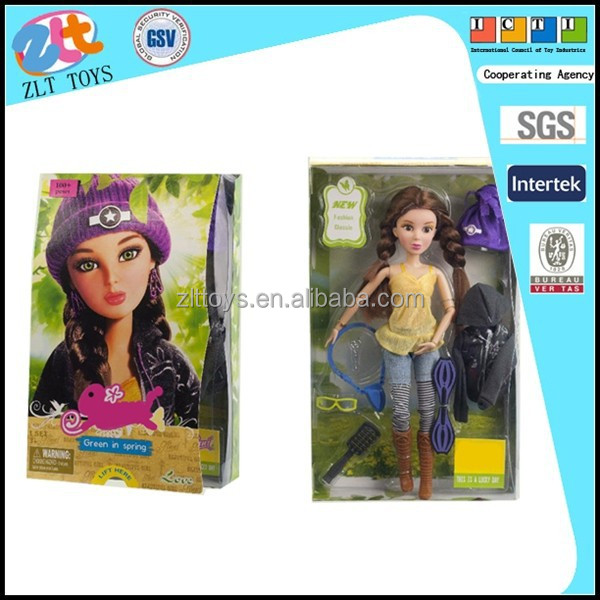 Dress-up Barbie doll with turly eyes (single)