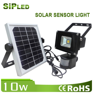 Energy Saving Solar LED Flood Light 10W / Solar Powered LED Spotlight for Garden & Landscape