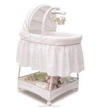 With ASTM cetificate electronic swing music baby bassinet